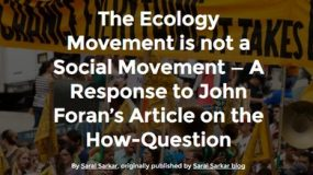 The Ecology Movement is not a Social Movement