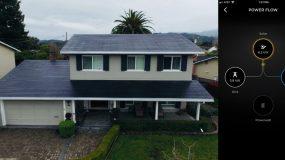 First Tesla solar roof customer installation feeding the grid and Powerwall