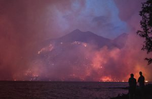 Howe Ridge Fire in Montana's Glacier National Park, August 2018
