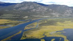 Aerial view of Yukon River