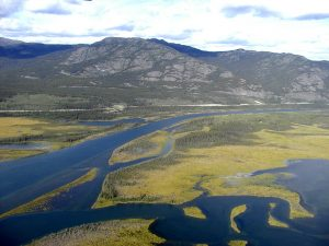 Aerial view of Yukon River