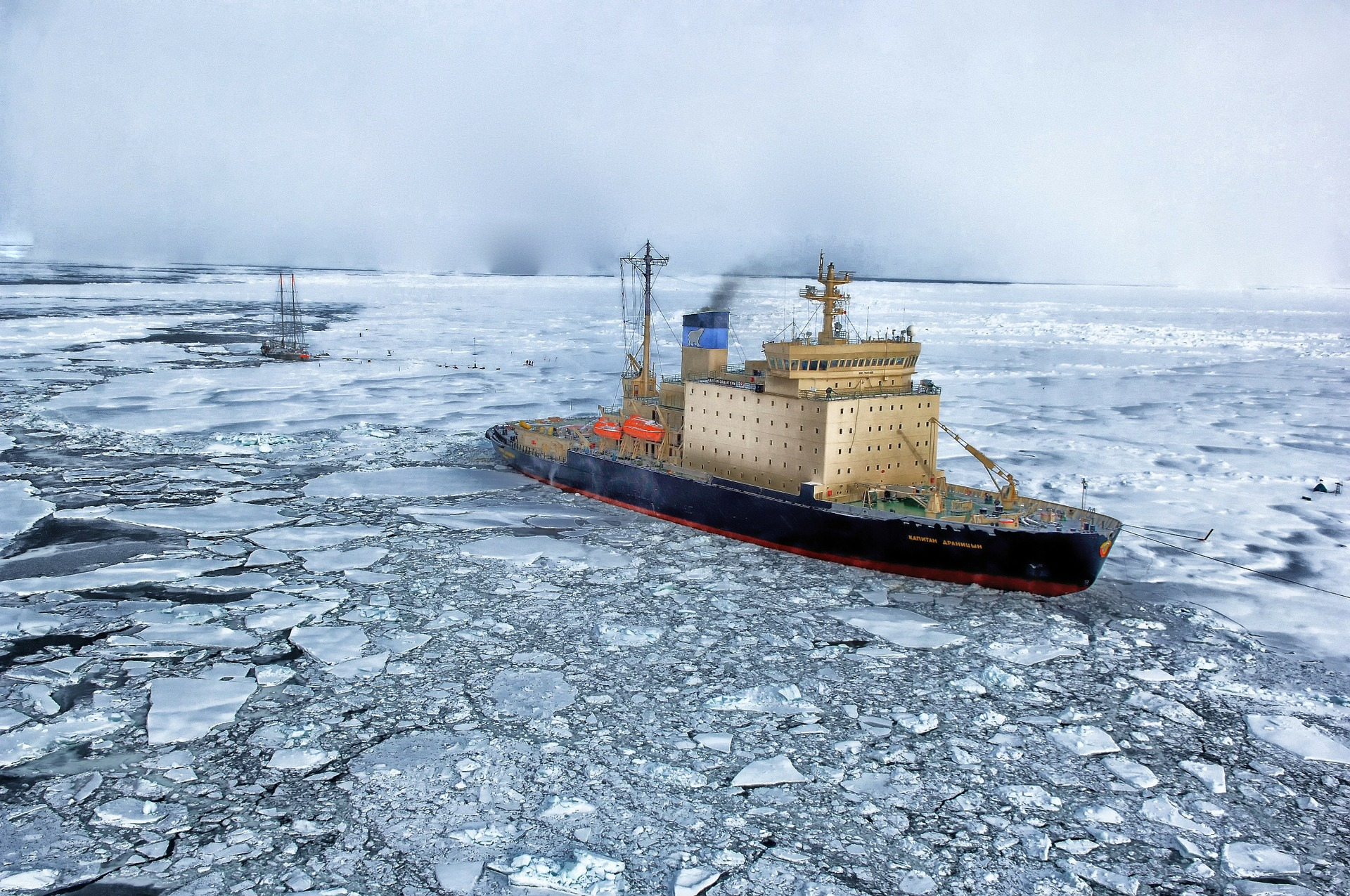 Ship in the Arctic