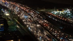 Traffic on a highway