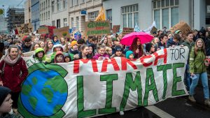 March for Climate on Fridays for Future in Bonn, Germany
