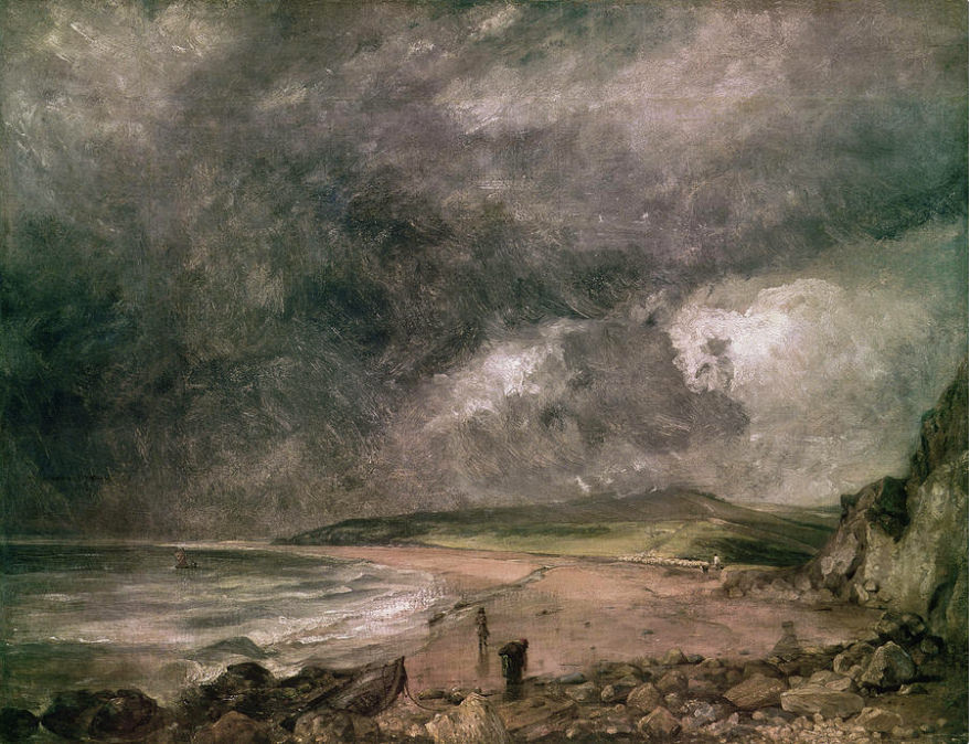 Weymouth Bay With Approaching Storm by John Constable, 1818–19