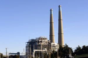 Moss Landing power plant in California, now a home for battery storage