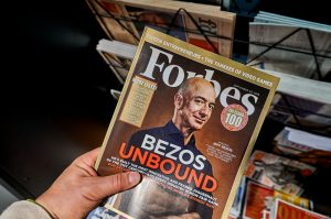 Forbes magazine with Jeff Bezos