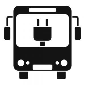City electric bus icon