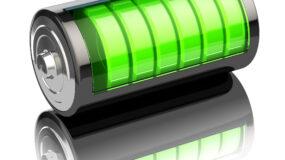 Battery charge level indicators - illustration