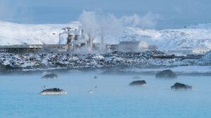 Geothermal power plant of Grindavik, Iceland